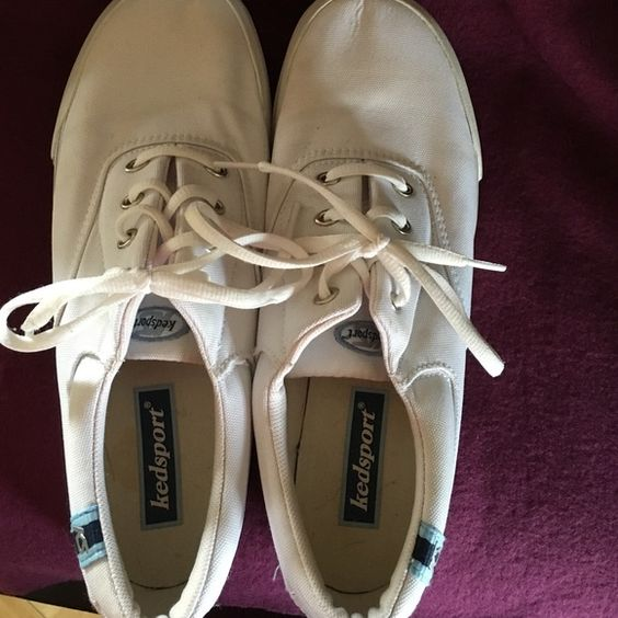 White kedsport Gently worn. Some yellowing on heels. They are a heavier shoe than the original Keds. keds Shoes Sneakers