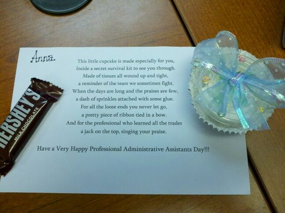 Administrative assistant day poem and gift crafts for Gift ideas for assistants