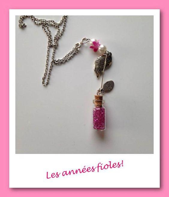 Charm's les années fioles rose : Pendentif par lesbijouxdelareine