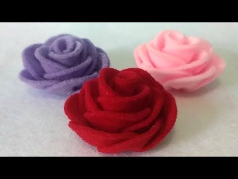 Diy How To Make Easy A Felt Rose Cara Mudah Membuat Bunga