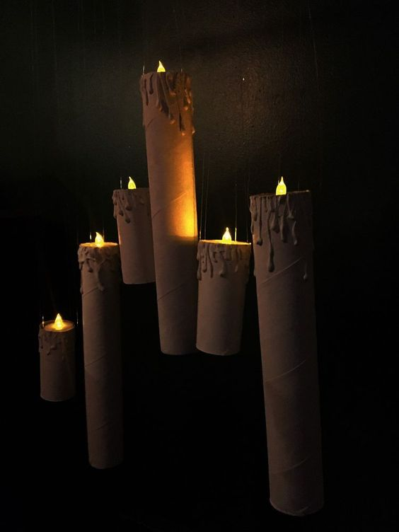 Make Floating Halloween Candles