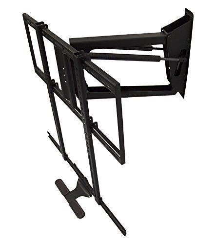 mantelmount pull down tv wall mount bracket w full motion for 48 80 inch 40 115lb lcd led. Black Bedroom Furniture Sets. Home Design Ideas