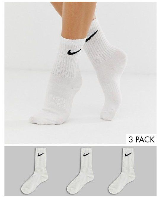 Nike White Swoosh Logo 3 Pack Crew Socks Asos White Nike Socks Outfit Leggings Nike White Swoosh Logo 3 Pa In 2020 White Nike Socks Nike Socks Women White Nikes
