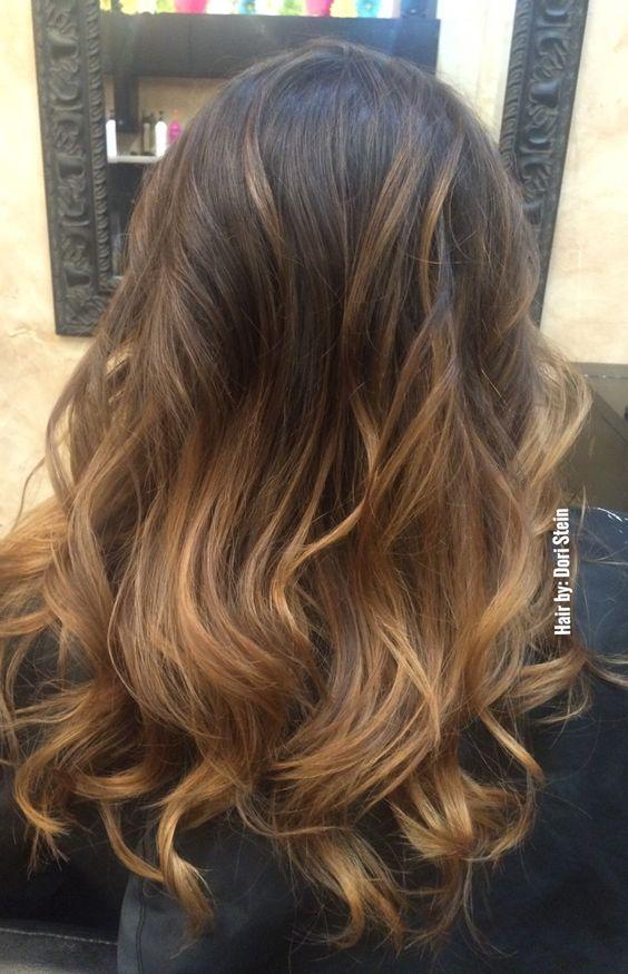 Brown Balayage hair. Gorgeous brown Balayage hair color. Bronde hair color.
