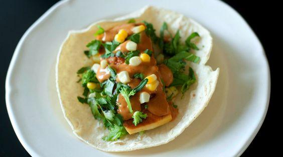 Spicy Peanut Thai Tacos