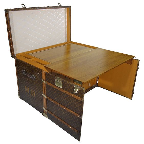 1920s Louis Vuitton Office Trunk or Malle Bureau | See more antique and modern Trunks and Luggage at http://www.1stdibs.com/furniture/more-furniture-collectibles/trunks-luggage