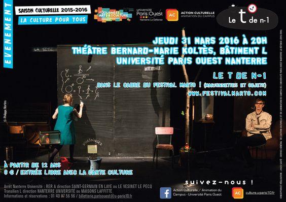 © Université Paris Ouest Nanterre la Défense Journées des arts et de la culture dans l'enseignement supérieur