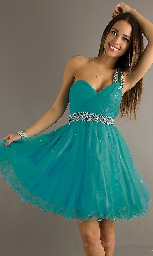 turquoise short homecoming dress | green prom dress on ...