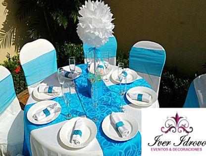 Mesas on pinterest for Decoracion bautizo en jardin