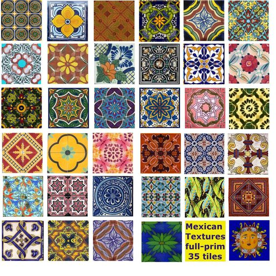 Mexican tiles mexicans and tile on pinterest for Pretty designs to paint