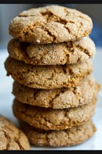 Vegan, gluten-free, ginger spice cookies. Recipe on our website. www.ilovehealth.ca