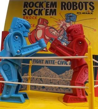 Rock'em Sock'em Robots! Turned 42 this year and my little brother bought these for my birthday. How cool is that?