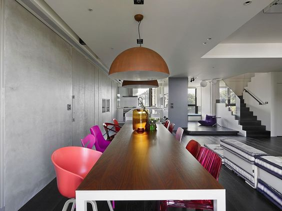 Stylish Duplex Apartment With Multi-Layer Color Highlights | iDesignArch | Interior Design, Architecture & Interior Decorating eMagazine