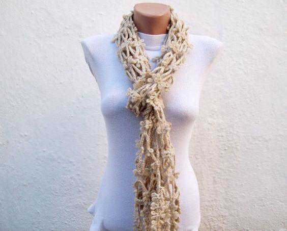 Hand crochet  Scarf  Light by nurlu