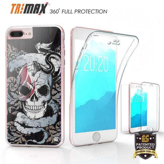 Tri Max For Apple iPhone 7 Plus Snake and Skull