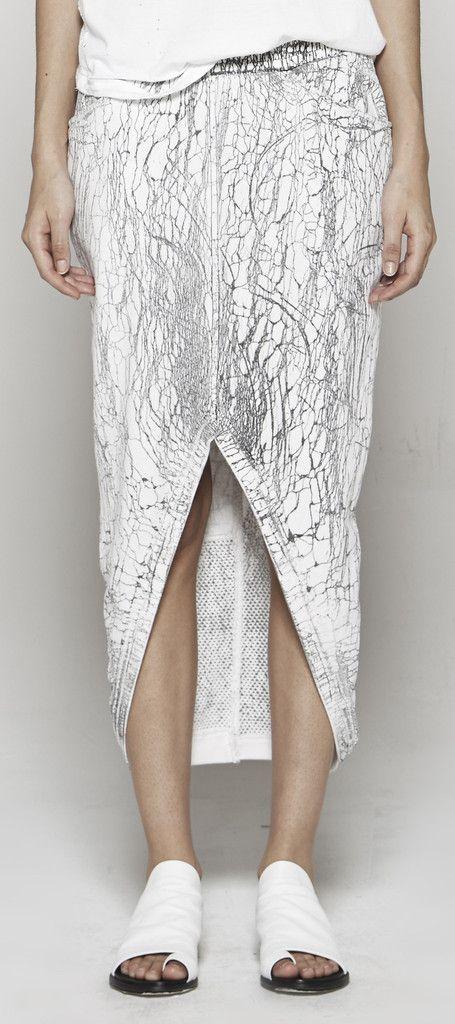 DRIFTER Scheherazade Cement Washed Paneled Skirt