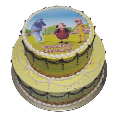 Motu Patlu Birthday Cake With Images Cake Online Cartoon Cake