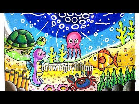 Cara Gradasi Warna Ep 159 Tema Gambar Hewan Laut Untuk Pemula Youtube Gambar Hewan Lukisan Hewan Hewan