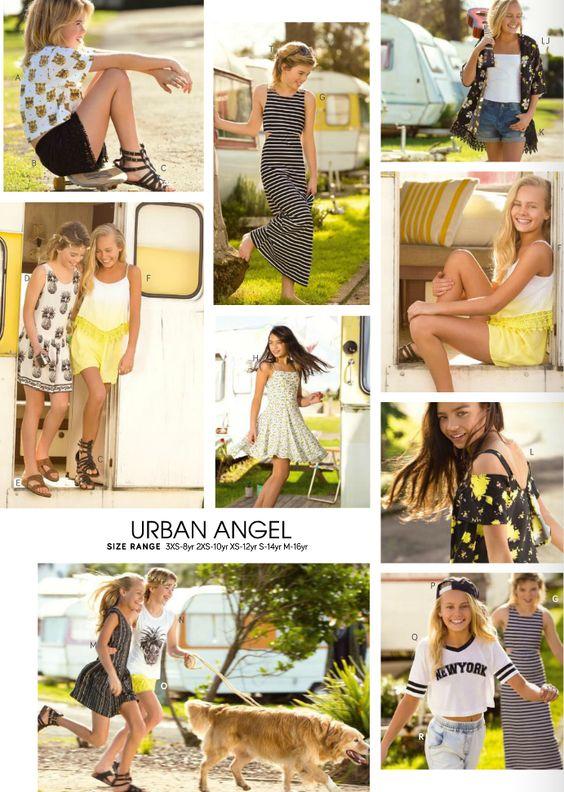 Pumpkin Patch Urban Angel Range - Summer fashion for girls aged 8 -16. Check out the Pumpkin Patch catalogue for more info http://www.pumpkinpatch.co.nz/banner/generic/ecatalogue-S15_NZ