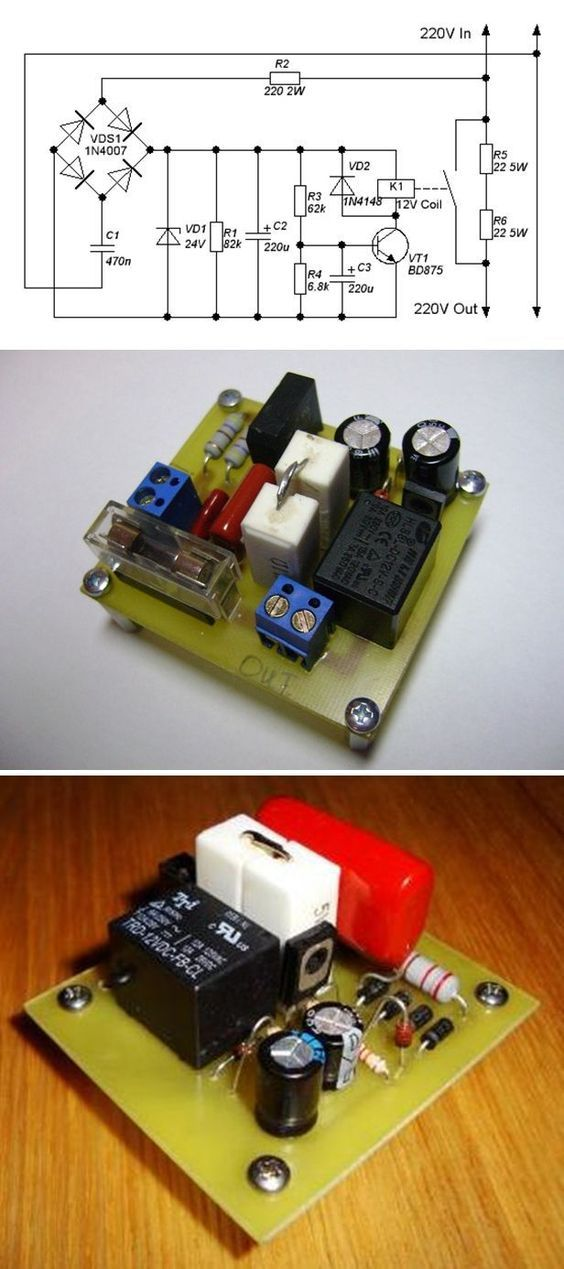 Simple Soft Start Circuit 220v Soft Start Circuit Electronics Projects Electronics Projects Diy Electronics Circuit