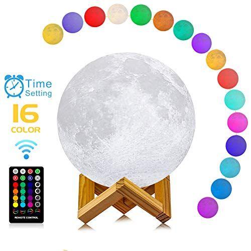 Logrotate Moon Lamp 3d Printing 16 Colors Led Moon Light Https Www Amazon Com Dp B07g1533 Decorative Night Lights Moon Light Lamp Birthday Gifts For Kids