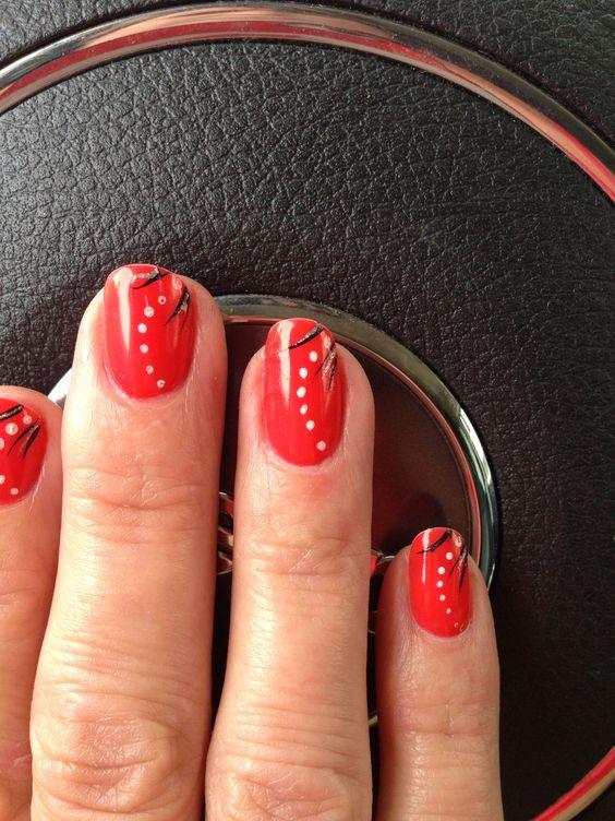 Coral polka dots