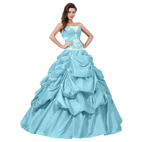 I want this cute ice blue ball gown prom dresses under 200 dollars ...
