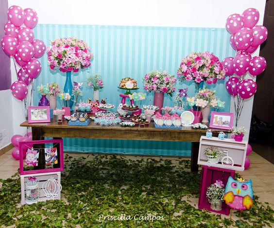 Decoração de festa infantil tema Jardim httpswwwfacebookcom