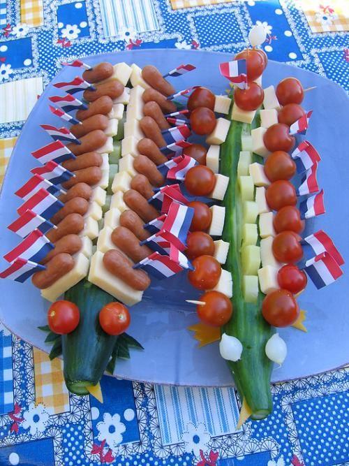 creatief met komkommer krokodil