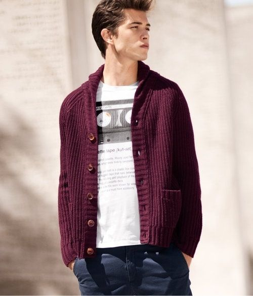 Mens' Fashion | Burgundy Cardigan | Fashion | Pinterest | Men's ...