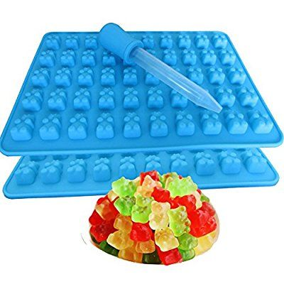 {Pack of 2 } 50 Gummy Maker Cavity Bear Mold Novelty Silicone Chocolate Candy Ice New Tray
