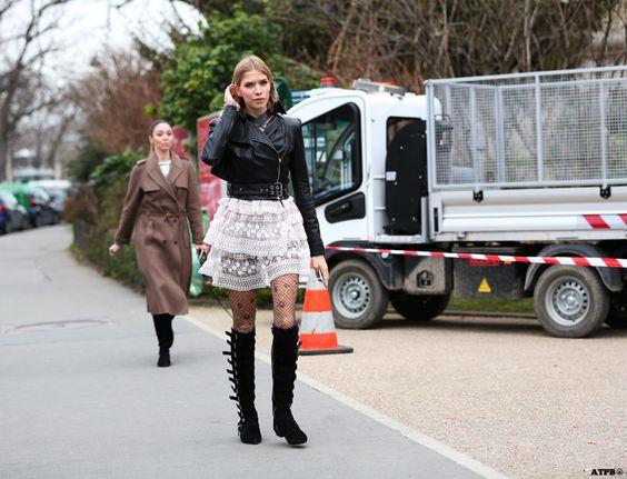 New Streetstyle: Paris Fashion Week- Elena Perminova on ATPB http://goo.gl/yBwRPx