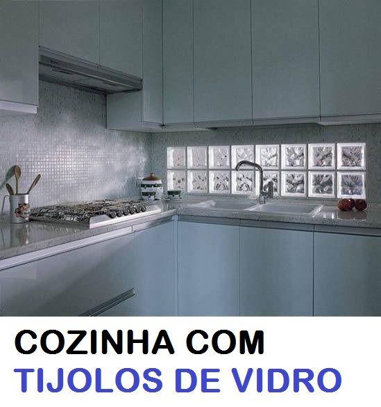 Cozinha Com Tijolo De Vidro Colorido Com Imagens Bloco De