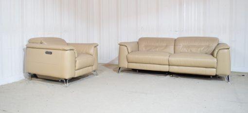 Cream Leather Sofa 3 Seater Chair Sanza Homeflair Cream Leather Sofa Sofa Leather Sofa