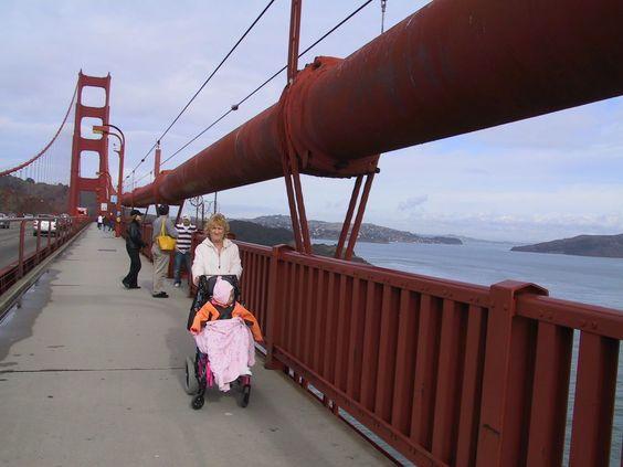 Sandra  & Meadow  on Golden Gate Bridge
