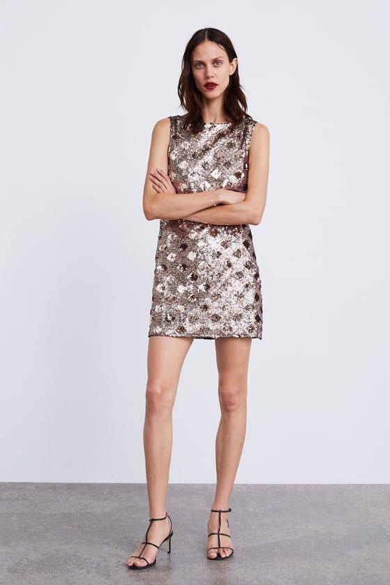 compras disponible mejor venta VESTIDO ROMBOS LENTEJUELAS | 1 en 2019 | Zara mujer vestidos ...