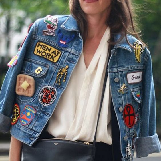 Jeans com Patches | Fashion week | Street style | Trend | Tendência | http://cademeuchapeu.com:
