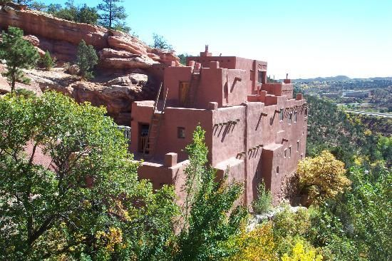 Manitou cliff dwellings, Manitou Springs Colorado This is a small complex that is neat to see how they built their homes in the red cliffs. Description from pinterest.com. I searched for this on bing.com/images