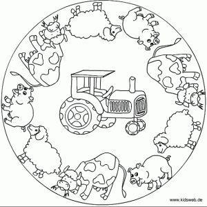 Animals Mandala Coloring Page Crafts And Worksheets For Bastelarbeiten Thema Bauernhof Ausmalbilder