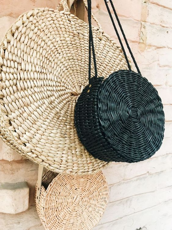 Straw bags, round bags, summer bags