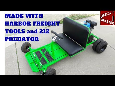 Homemade Go Kart Made W Harbor Freight Tools Predator 212cc Youtube Go Kart Homemade Go Kart Harbor Freight Tools