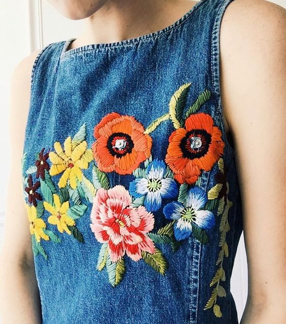 Current obsession is embroidered denim, perfect for festivals and life x: