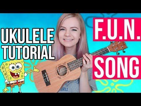 Spongebob Fun Song Easy Beginner Ukulele Tutorial Youtube Ukulele Tutorial Ukulele Songs Beginner Fun Songs