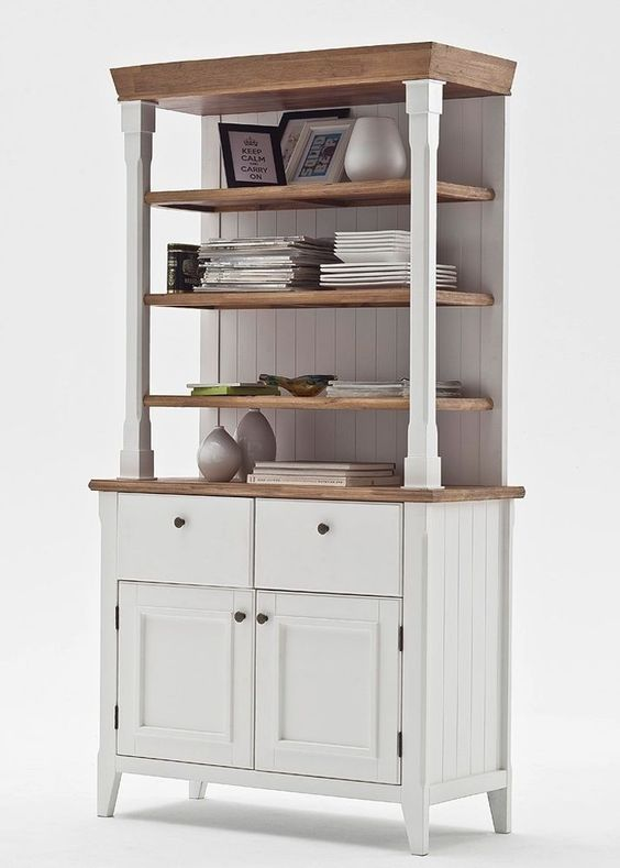 buffet malin landhausmöbel weiß natur 7934. buy now at https://www ... - Landhausmobel Weis Wohnzimmer