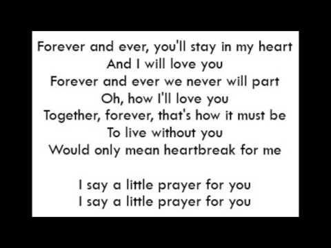 I Say A Little Prayer Aretha Franklin Lyrics Youtube With