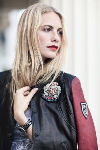 Poppy Delevingne shows off her It-Brit style. Photos by Eva K. Salvi.