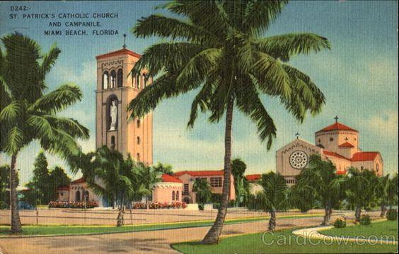 St. Patrick's Catholic Church And Campanile Miami Beach Florida