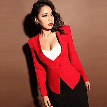 Womens Red Jacket Blazers | Outdoor Jacket