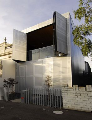 Perforated House, Melbourne, Australia by Kavellaris Urban Design