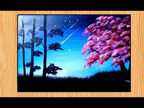 10 Lukisan Pemandangan Di Sore Hari Lukisan Pemandangan Pohon Indah Di Malam Hari Youtube Download Lukisan Pemandangan Matahari Di 2020 Pemandangan Gambar Pohon